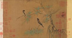 Finches and Bamboo - Emperor Huizong, Northern Song Dynasty, 960-1127