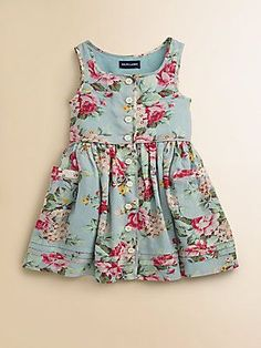 Toddler's  Little Girl's Floral Sundress