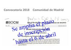Pruebas Libres #ESO. Se amplía el plazo para inscribirse en la primera convocatoria en la Comunidad de #Madrid. Summoning, Baccalaureate