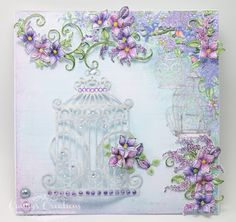 Candy's Creations: Lavender Lilac Card