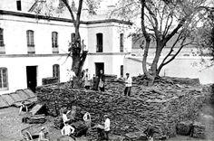 Fabrica de tapones de corcho en el Pasaje Mallol, instalada tras la desamortización de terrenos del convento de Santa Paula
