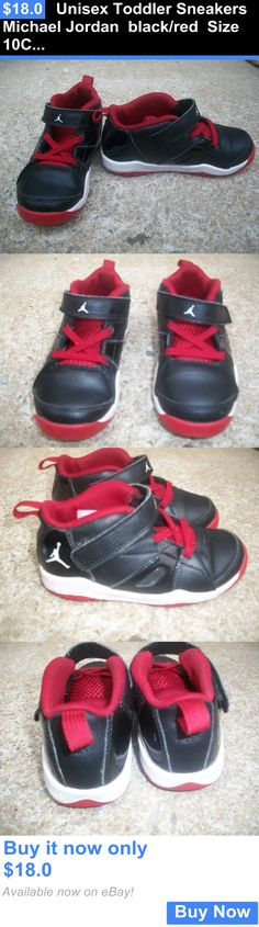 Michael Jordan Baby Clothing: Unisex Toddler Sneakers Michael Jordan Black/Red Size 10C 555391-001 Vgc BUY IT NOW ONLY: $18.0