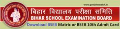 Download here BSEB Matric Admit card or Matric exam hall ticket.BSEB 10th Admit Card-2017, Bihar Board Matric Exam Hall Ticket 2017,www.biharboard.ac.in
