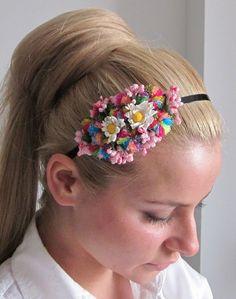 Handmade tiara headband with small spring by SpecialForYoubyNelli, $19.99