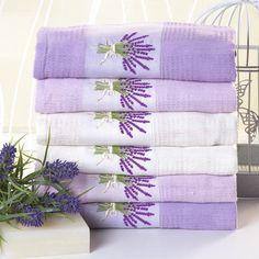 Vaflové bavlněné utěrky LEVANDULE 50 x 70 cm 6 ks Lavender, Herbs, Herb, Medicinal Plants