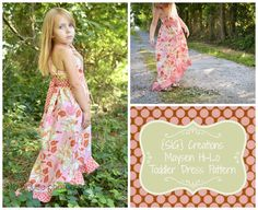 INSTANT Download PDF SIG Maysen Hi-Lo Dress Pattern - Size 12 month to 5 youth, $7.00