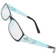 Ladies Men Black Light Blue Full Rim Plain Plano Eyeglasses
