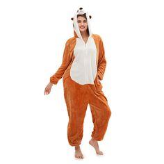 Mongoose Unisex Costume Brown Pajamas – alfagoody Adult Pajamas, Animal Pajamas, Cute Onesies, Animal Costumes, Mongoose, Club Dresses, Harem Pants, Dress Up, Costume