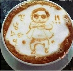 Gangnam Style Latte Art