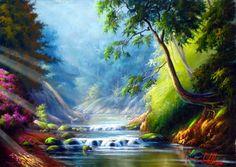 pintura de paisagem
