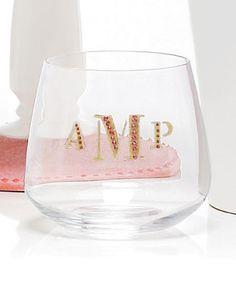 #Personalization #Trends Martha Stewart Crafts™ Stenciled Monogram Glass