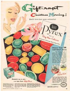 Original Australian AGEE PYREX GAY COLOURS OVENWARE AD 1960 Vintage Print Ad in Collectables, Advertising, Print Advertising | eBay!