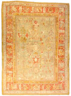 Oushak carpet  West Anatolia,  circa 1890  size approximately 9ft. 9in. x 13ft. 7in.