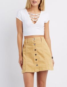 Caged Crop Top | Charlotte Russe
