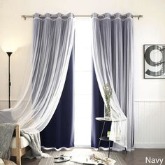 Aurora Home MIX & MATCH CURTAINS Blackout Tulle Lace Sheer Bronze Grommet 4-piece Curtain Panel Pair - Free Shipping Today - Overstock.com - 18722872 - Mobile