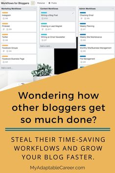 If you want to grow a successful blog, these workflows and checklists for bloggers will help you get more done and grow your blog faster.