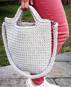 SimpleMadeWithLove / Háčkovaná taška Anita Crochet Tote, Crochet Handbags, Crochet Purses, Crochet Phone Cases, Crochet Patron, Diy Crafts Crochet, Bag Pattern Free, Tote Bags Handmade, Jute Bags
