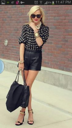 Gold, leather and pearls