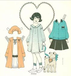 Child Life Magazine Paper Doll Your Dress Dolly's Feb 1928 Polly Chiquet | eBay