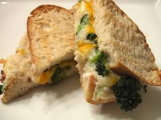 Garlic & Chive Mashed Potato Grilled Cheese