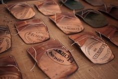 Horween Shell Cordovan hand stitched wallets.....  lots of them.