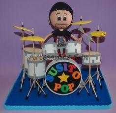 fofucha baterista  goma eva,silicona foamy 3d
