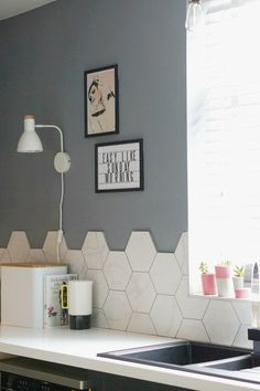 Full Kitchen Makeover Reveal: How to Update Your Existing Kitchen Grey Kitchen Cupboards, Kitchen Cupboard Doors, Color Schemes, Colour, Home Decor, R Color Palette, Color, Decoration Home, Room Decor