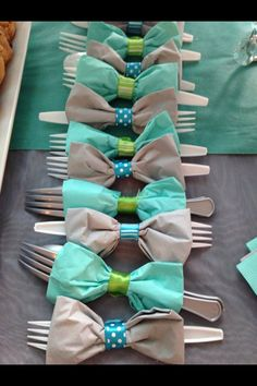 Bow tie napkins! For special occasions :)