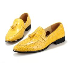 LOVE Fashion Men Wedding Shoes Checkered Tassel Dress Shoes For Men Oxfords Pointed Toe Business Men's Leather Shoes Flats, goodhermes.com