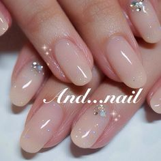 Nail Shapes - My Cool Nail Designs Oval Nails, Pink Nails, My Nails, Shellac Nails, Calgel Nails, Stiletto Nails, Acrylic Nails, Bridal Nails, Wedding Nails