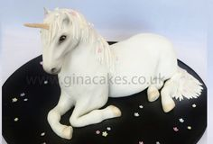 Unicorn cake by Gina Molyneux Watermelon Cupcakes, Realistic Cakes, Sculpted Cakes, Cake Central, Cake Decorating Techniques, Decorating Ideas, Cake Pictures, Novelty Cakes, Girl Cakes