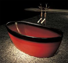 Japanese Bathing in a Hand-made Wooden Ofuro Bathtub