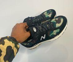 BAPE x New Balance 2002R 最新聯名系列實鞋率先曝光 | HYPEBEAST Gel Cushion, Cheap Nike Air Max, Camo Print, Bape, Hypebeast, New Shoes, Streetwear Brands, New Balance, Collaboration