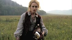 Dominique McElligott as Lily Bell in AMC's coming series, Hell on Wheels, about the Transcontinental Railroad! (Also Common is in this show!)