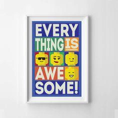 Lego Everything is Awesome Block Style by itsDesignsByChelsea, $12.00