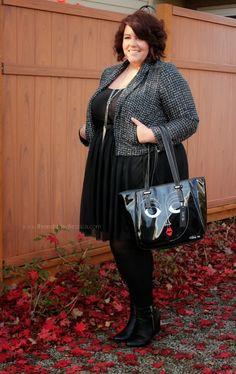 Life & Style of Jessica Kane { a body acceptance and plus size fashion blog }: Skirt & Boots