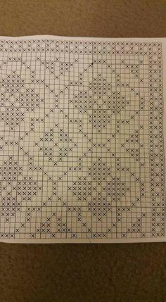Cross Stitching, Cross Stitch Embroidery, Embroidery Patterns, Hand Embroidery, Crochet Cross, Filet Crochet, Crochet Doilies, Crochet Stitches, Mosaic Madness