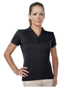 Women's 100% Polyester Knit Polo Shirts  Tri mountain 003