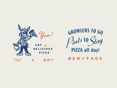 Heritage Pizza Lockups by Tractorbeam