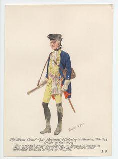 Hesse-Cassel Leib-Regiment of Infantry, Officer in Field Dress, in America 1776-1783 by H.Knotel