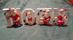 VINTAGE NOEL Candle Holders with Santas- RELCO JAPAN