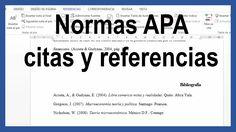 Word - Citas y referencias bibliográficas según normas APA última edició...