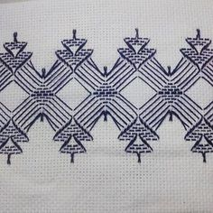 Huck Embroidery / Punto Yugoslavo / Swedish Weaving / Bordado Vagonite. Motivos natalinos