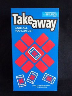 Take Away Card Game 2000 JAX From Makers of Sequence Complete #JAX