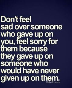 Never giving up on someone