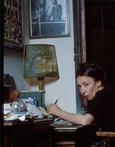 Oriana nella casa di Greve in Chianti (1) - Foto - Oriana Fallaci