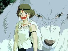 La Princesa Mononoke. Miyazaki y Ghibli en acción. Maravillosa..