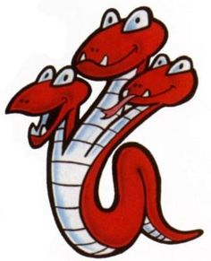Tryclyde looking mischievous from the official artwork set for #SuperMarioBros2 on the #NES. #SuperMario #SuperMarioBros #Retrogames. Visit for more info http://www.superluigibros.com/super-mario-bros-2-nes