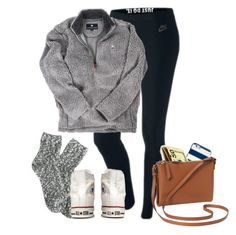 """""""s/o to maddy bc its her bday and shes pretty great at life so"""" by elizabethannee ❤ liked on Polyvore featuring NIKE, J.Crew, Converse, Kate Spade and Old Navy"""
