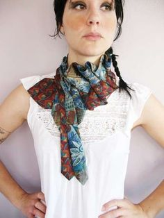 upcycled tie scarf - I hope I can figure it out. I want one and I didn't find directions.